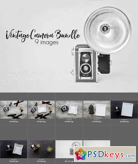 Vintage Camera Mock Up Bundle 1309001