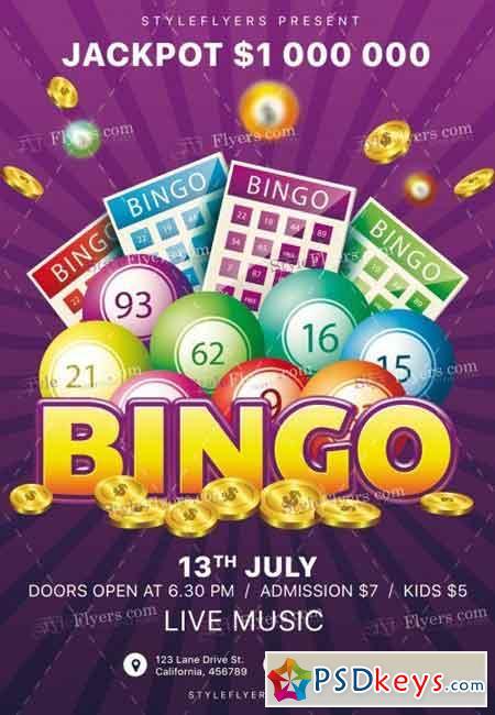 Bingo Psd Flyer Template 9 Free Download Photoshop Vector Stock
