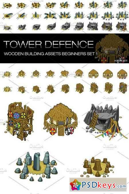 Tower Defence - Wooden Buildings 1515280