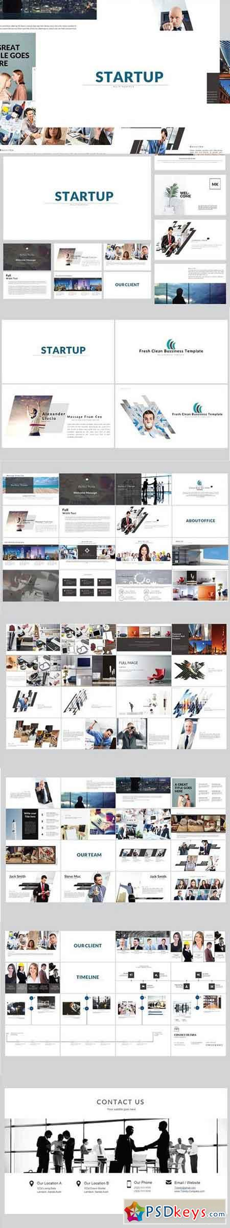 Startup Business Powerpoint Template 1558819