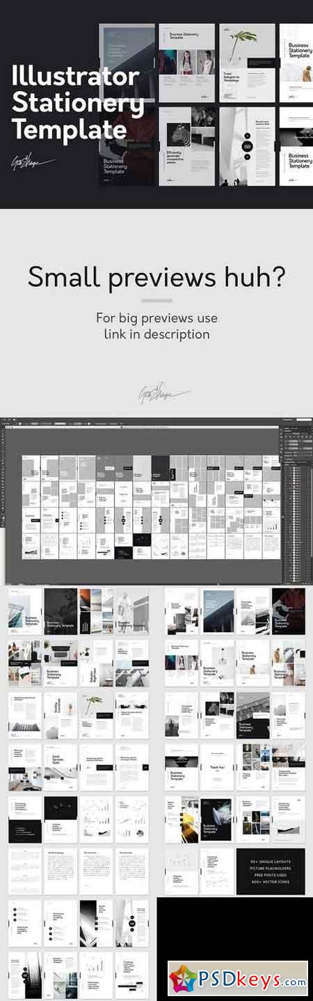 Illustrator Stationery Template 1318798