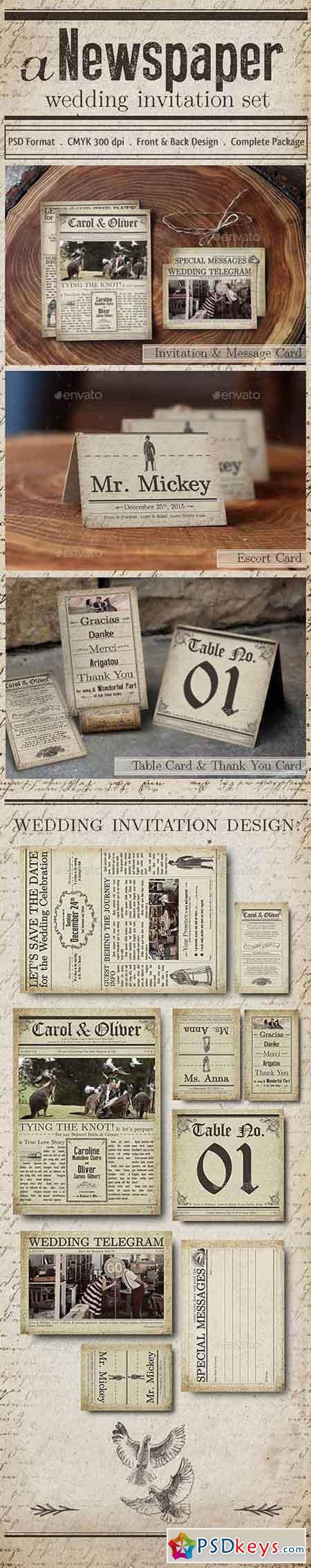 Newspaper Wedding Invitation 11341666