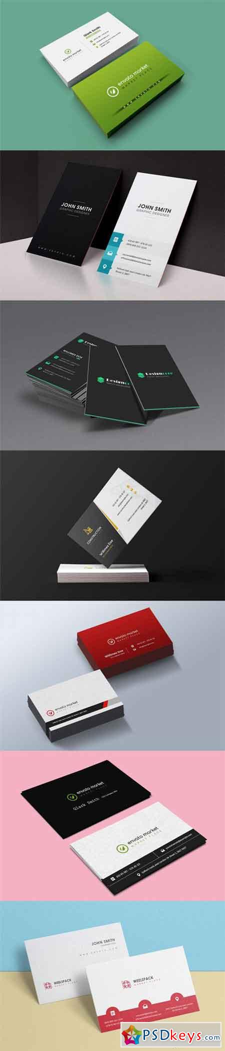 7 business card templates set free download photoshop vector stock 7 business card templates set reheart Choice Image