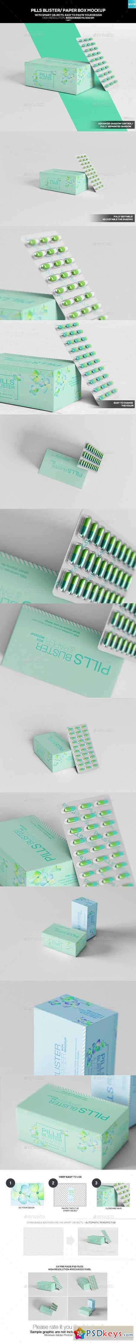 Pills Blister Paper Box Mockup 20267518