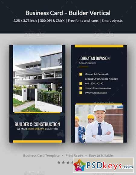 Business Card – Builder Vertical 20242026