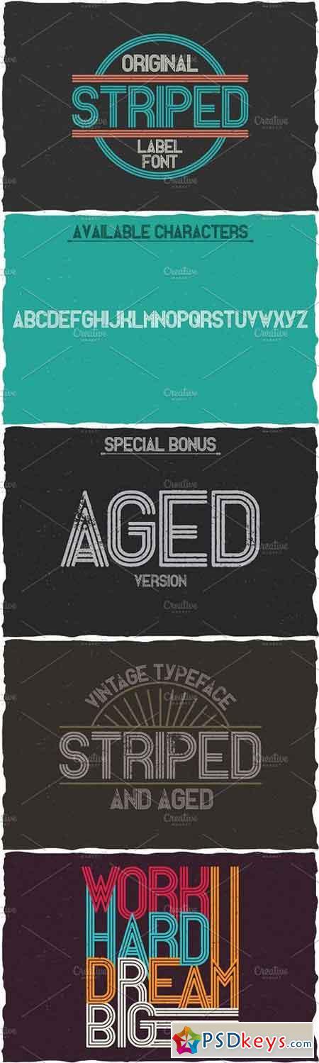 Striped Vintage Label Typeface 1560169