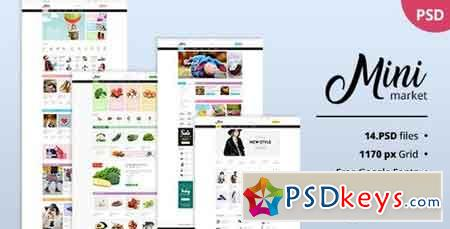 MiniMarket - Multi-Purpose Supermarket Grocery PSD Template - Kid Toys Foods Apparel Fashion 20267525