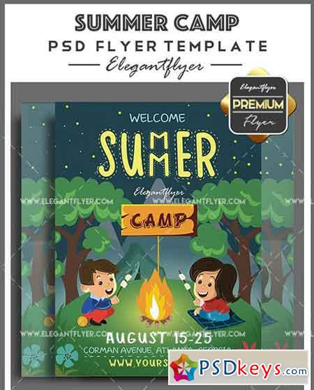 Summer Camp – Flyer PSD Template + Facebook Cover