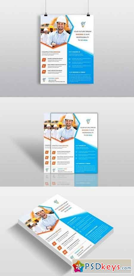 Construction Business Flyer Template 1318104
