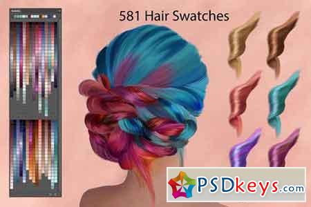 Hair Swatches for Digital Painting 1573631