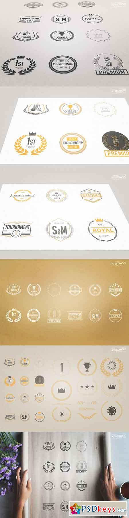 Laurels Vector Badges Logo Set 1652414