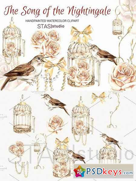 Gold Bird cage Clipart Nightingale 1585631