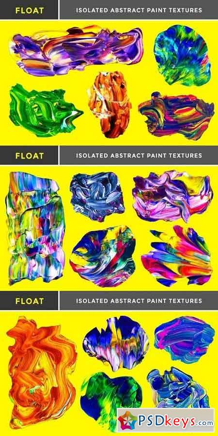 Float Isolated Paint Textures 1327763
