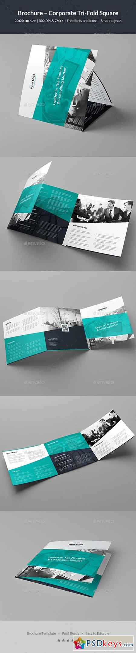 Brochure – Corporate Tri-Fold Square 20262967