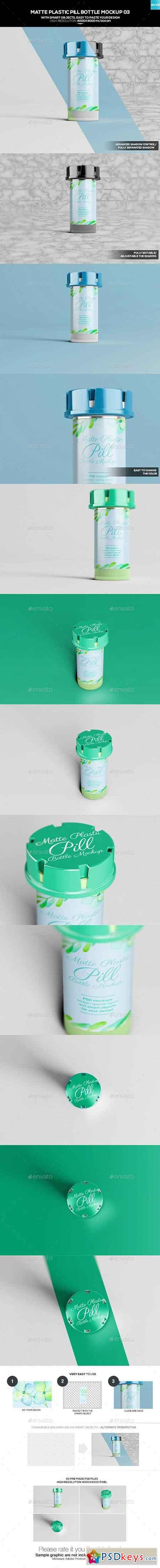 Matte Plastic Pill Bottle Mockup 03 20276002