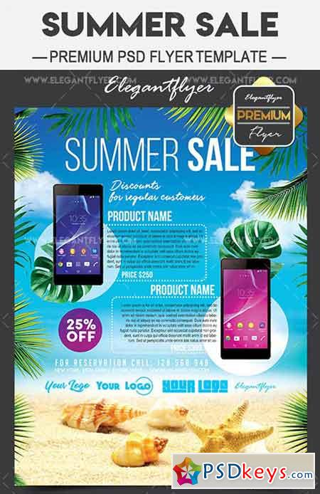 Summer Sale – Flyer PSD Template + Facebook Cover