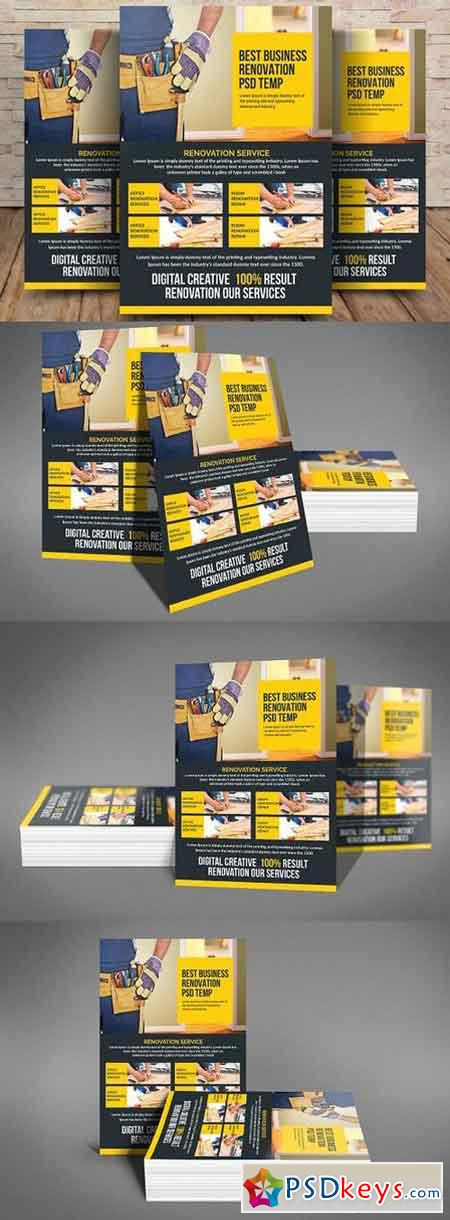 Construction Flyer Templates 1594854 Free Download Photoshop