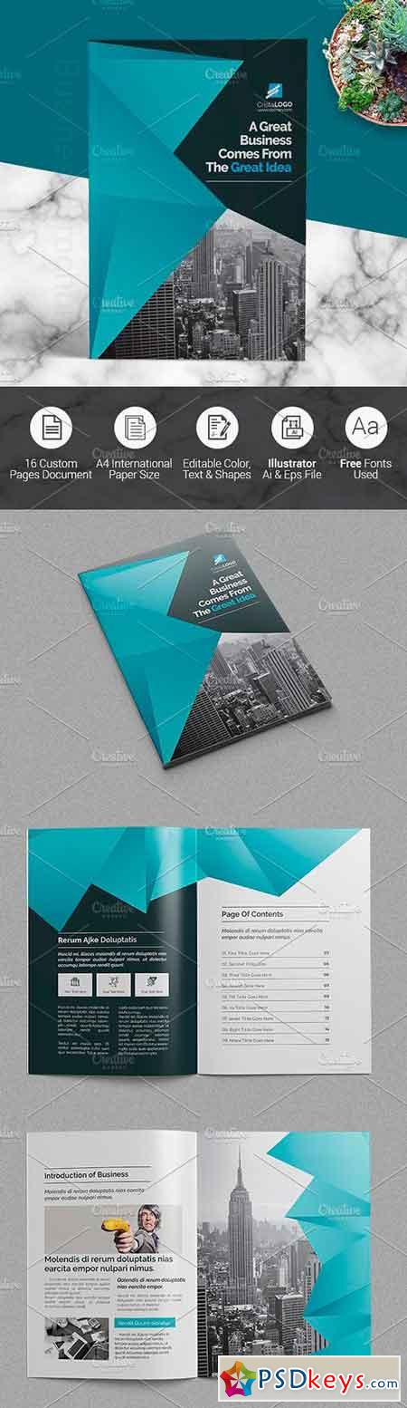 Abstract Clean Brochure 1604170
