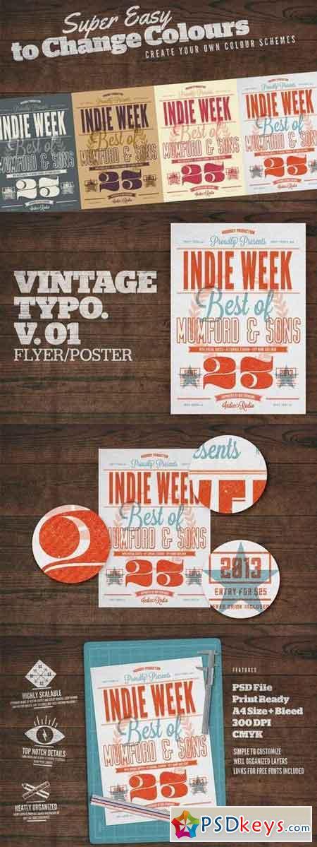 Vintage Typography Poster V01