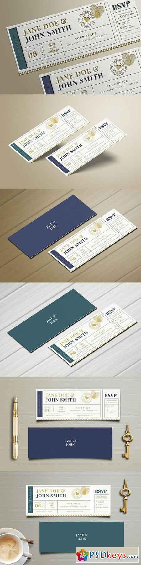Wedding Invitation Ticket 1669459