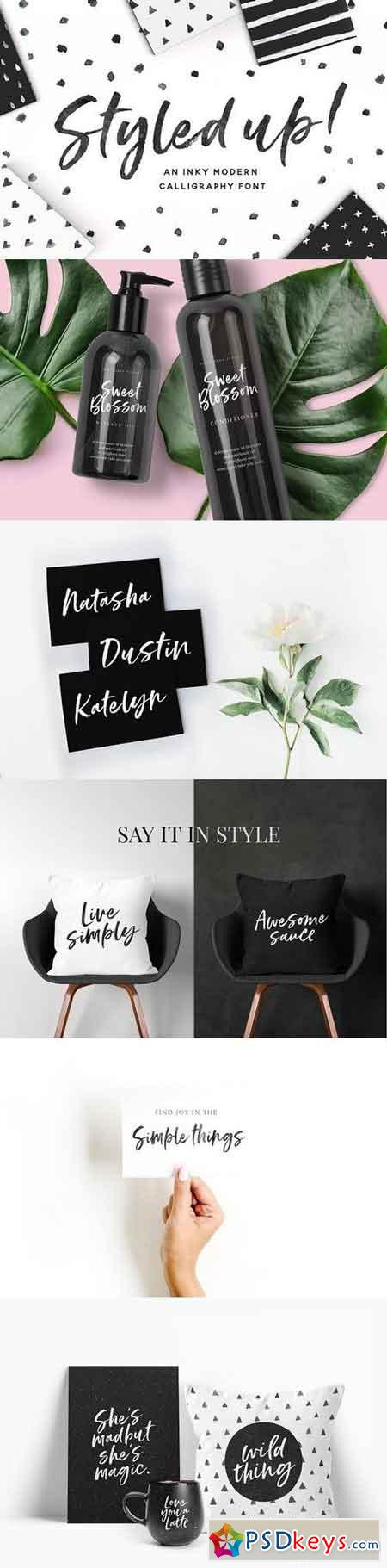 Styled up!Brush Calligraphy Font Duo 1318484