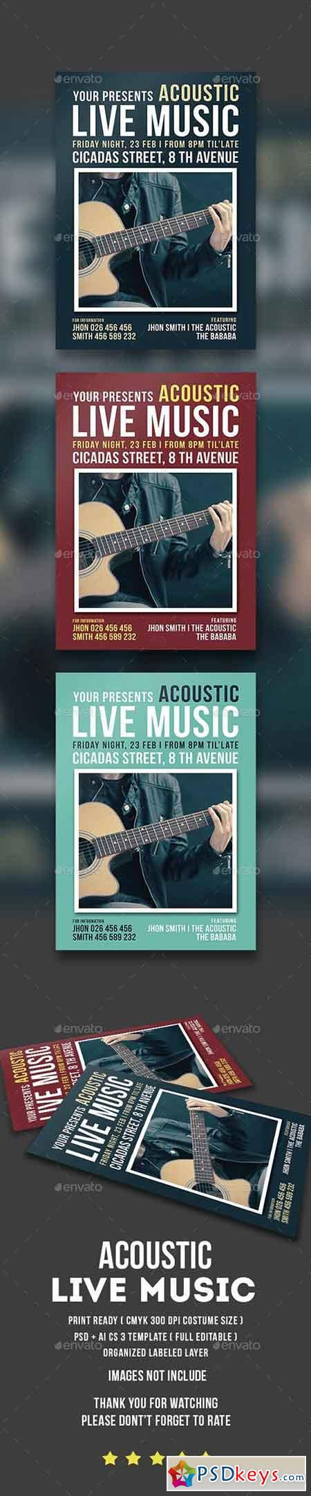 Acoustic Live Music Flyer 14604101