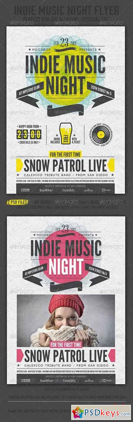 Indie Music Night Flyer Poster 4123510