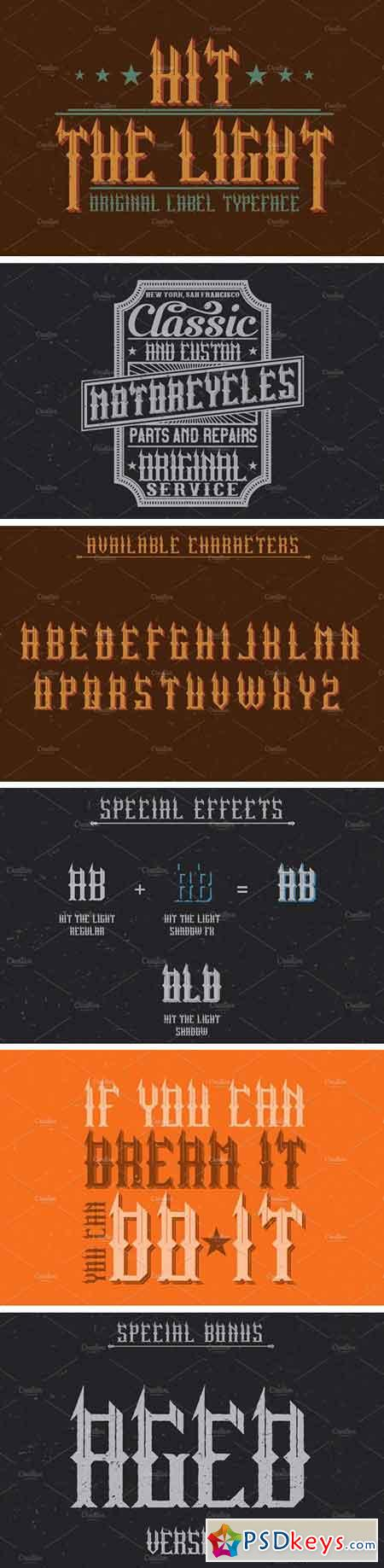 Hit The Light Vintage Label Typeface 1556424