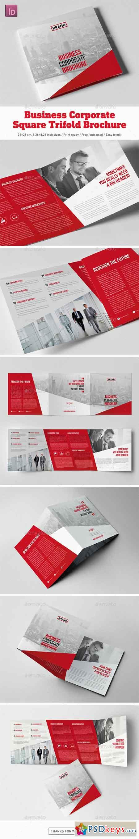Business Corporate Square Trifold Brochure 20239753 » Free