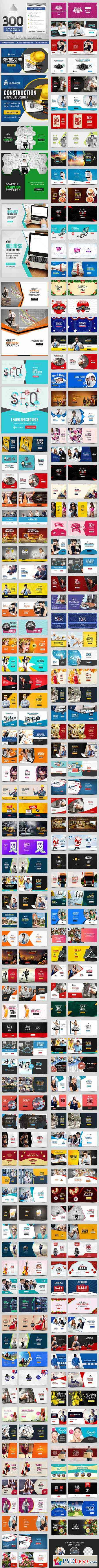 Facebook Newsfeed AD Banners Vol 8 - 150 Designs 20325499