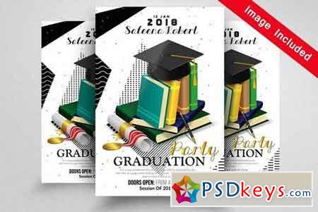 Graduation Party Flyer Template 1595964