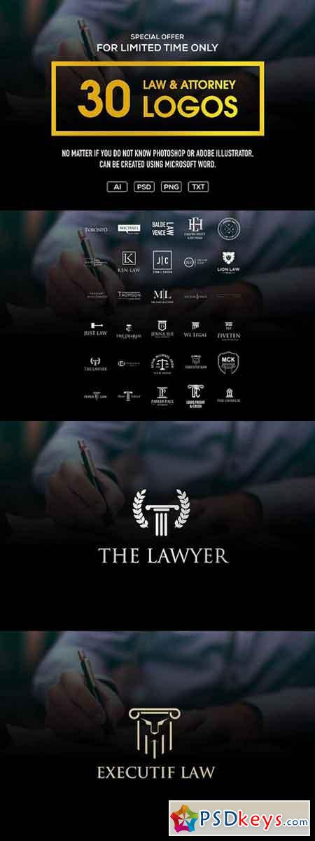 BIG sale - 30 law & attorney logo 1587927