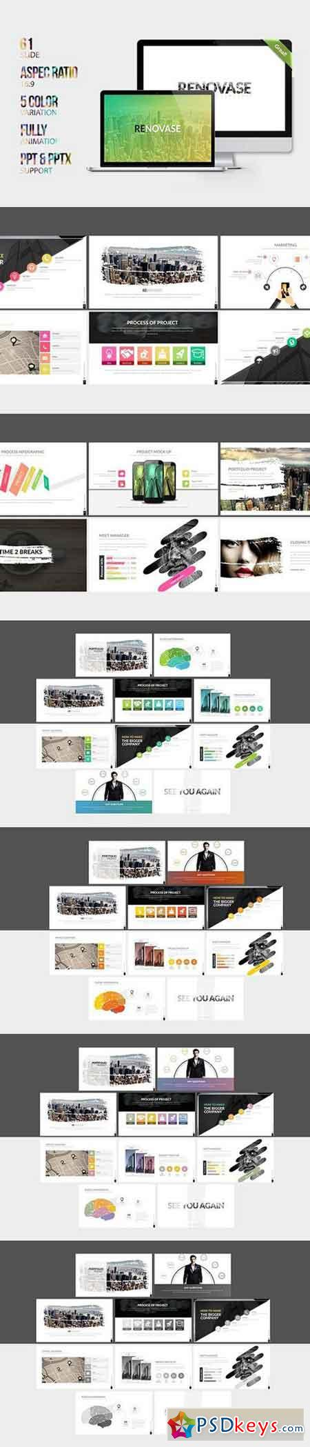 Renovase Powerpoint Template 1544371 » Free Download Photoshop ...