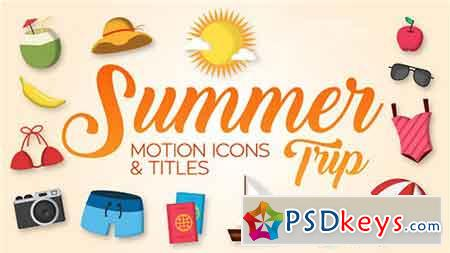 Summer Trip - Motion Icons & Titles 19806718 - After Effects Projects