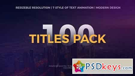 The Titles Pack 20211743 - After Effects Projects