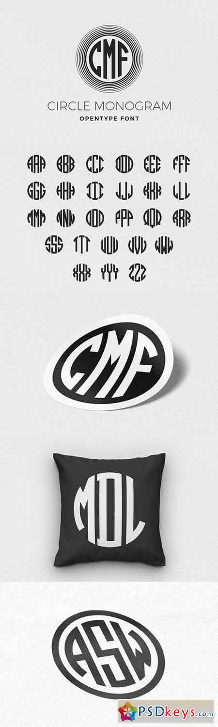 Circle Monogram Font 1594657