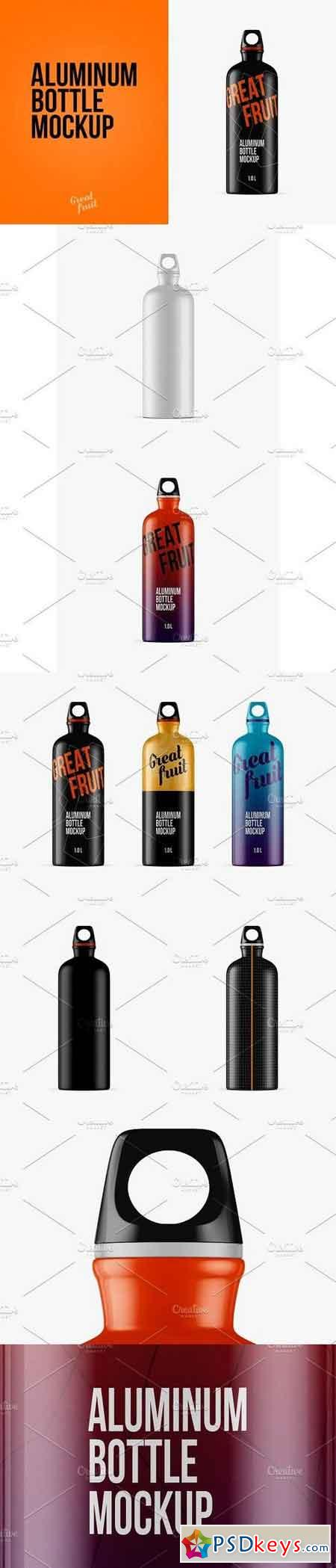 Aluminum Water Bottle PSD Mockup 1339031