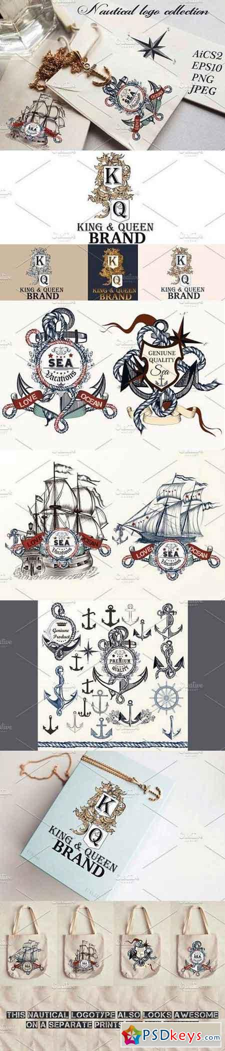 Nautical logotypes set 1327862