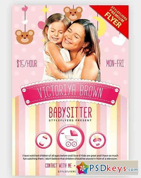 Babysitting V03 PSD Flyer Template