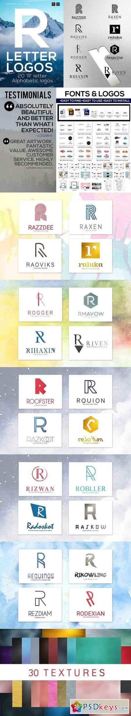20 R Letter Alphabetic Logos 1325266 » Free Download