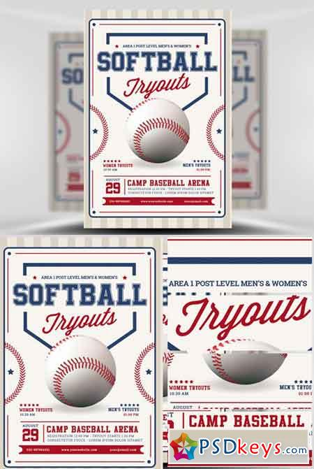 softball tryout flyer template