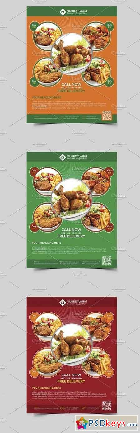 Restaurant  Food Flyer Template   Free Download Photoshop