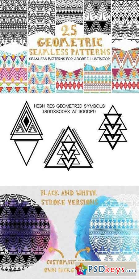 GeoMetric Aztec Seamless Patterns 1338878