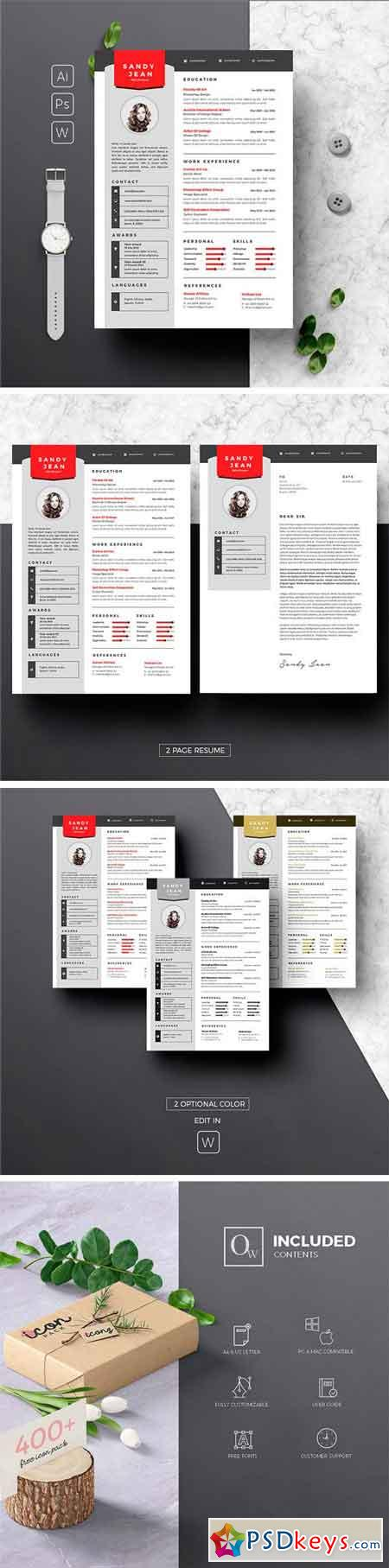 Clean Resume & Cover Letter 1659509