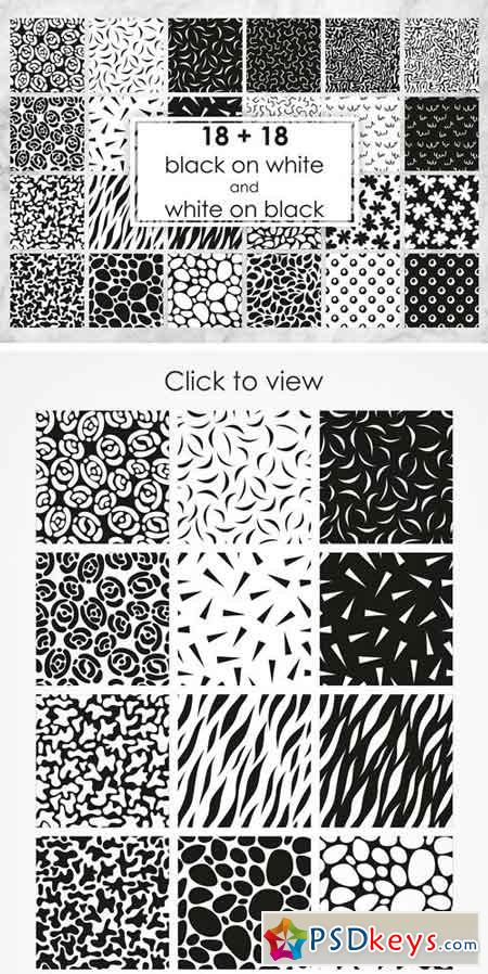 Set of Black and White Patterns 1624430