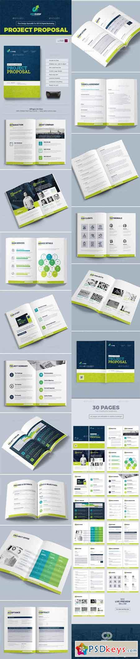 Project Proposal Template For Seo Digital Marketing Agency Company