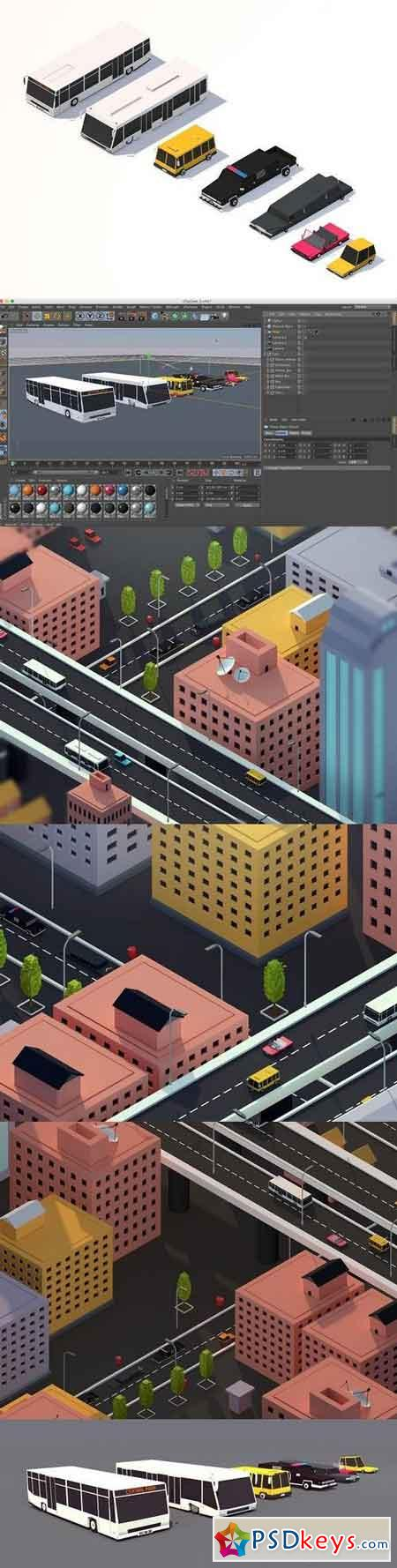 Low Poly City Cars Asset Pack 2 1317458