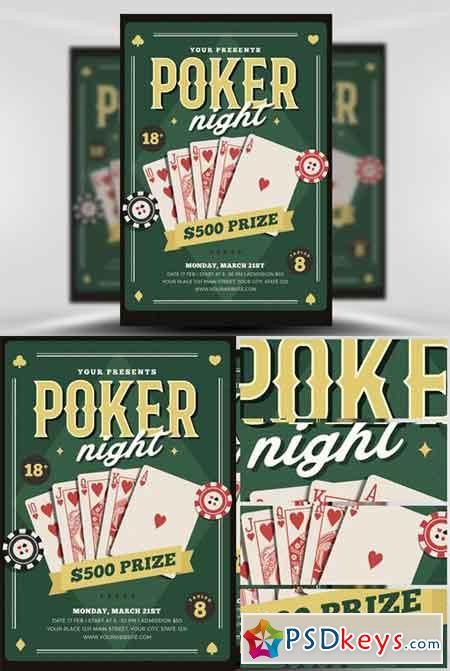 Poker Night Flyer Template Free Download Photoshop Vector