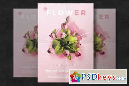 Floral flyer template