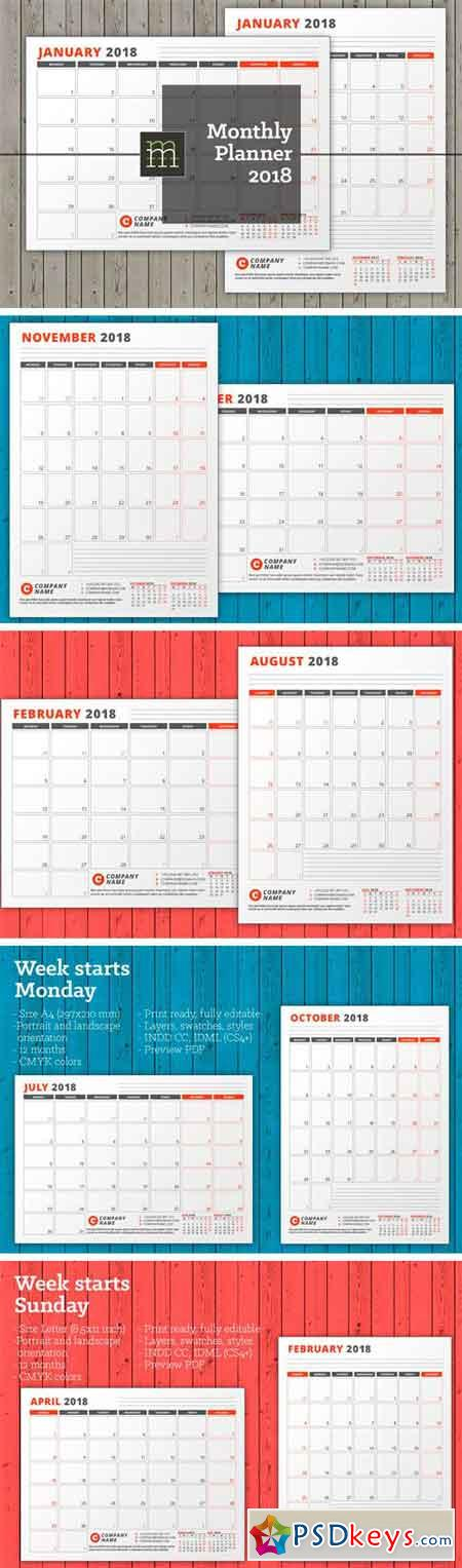 Monthly Planner 2018 (MP14) 1683390
